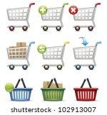 shopping cart and basket   Shutterstock .eps vector #102913007