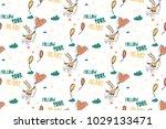 cute pattern for kids  girls... | Shutterstock .eps vector #1029133471