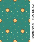 cute pattern for kids  girls... | Shutterstock .eps vector #1029133561