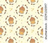 cute pattern for kids  girls... | Shutterstock .eps vector #1029133597