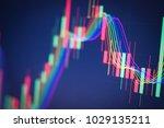 stock market digital graph... | Shutterstock . vector #1029135211