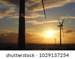 uk wind farm | Shutterstock . vector #1029137254