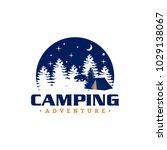camping logo design | Shutterstock .eps vector #1029138067