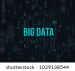 big data.stage a process of... | Shutterstock .eps vector #1029138544
