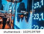 display stock market numbers | Shutterstock . vector #1029139789