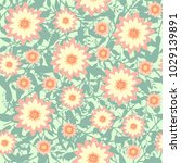 seamless pattern with flowers ... | Shutterstock .eps vector #1029139891
