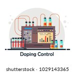 anti doping laboratory for...   Shutterstock .eps vector #1029143365