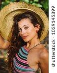 young so beautiful woman ... | Shutterstock . vector #1029145399