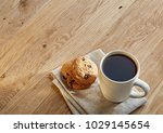porcelain teacup with chocolate ... | Shutterstock . vector #1029145654