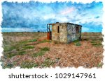 watercolour painting of an...   Shutterstock . vector #1029147961