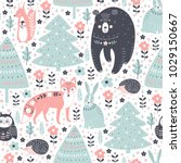 vector seamless pattern with... | Shutterstock .eps vector #1029150667