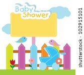 baby shower background for baby ... | Shutterstock .eps vector #102915101
