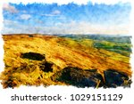 watercolour painting of the...   Shutterstock . vector #1029151129