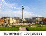 stuttgart  castle square ... | Shutterstock . vector #1029153811