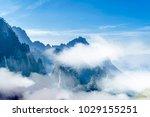 mount huangshan cloud sea   Shutterstock . vector #1029155251