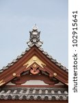 detail on japanese temple roof... | Shutterstock . vector #102915641