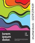abstract poster design ... | Shutterstock .eps vector #1029159439