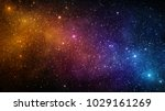 universe filled with stars ... | Shutterstock . vector #1029161269