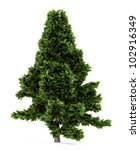 3d scots pine tree isolated... | Shutterstock . vector #102916349