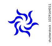 simple abstract logo blue swirl   Shutterstock .eps vector #1029164011
