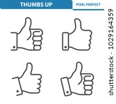 thumbs up icons. professional ... | Shutterstock .eps vector #1029164359