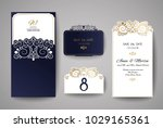 wedding invitation or greeting... | Shutterstock .eps vector #1029165361