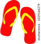 sandals red yellow  travel on... | Shutterstock .eps vector #1029166279