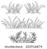 Illustration Of Grass And Plan...
