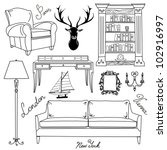 Set Of Furniture Icons  Living...
