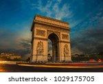 street view of the arc d... | Shutterstock . vector #1029175705