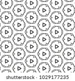 seamless geometric ornamental... | Shutterstock .eps vector #1029177235