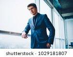confident male entrepreneur in... | Shutterstock . vector #1029181807