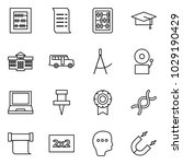 flat vector icon set   abacus... | Shutterstock .eps vector #1029190429