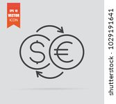 currency exchange icon in flat... | Shutterstock .eps vector #1029191641