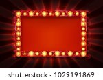 cinema golden rectangular frame ... | Shutterstock .eps vector #1029191869