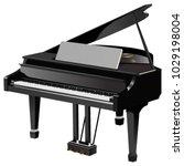 black  classic  grand piano... | Shutterstock .eps vector #1029198004
