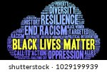 black lives matter word cloud... | Shutterstock .eps vector #1029199939