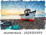 watercolour painting of a...   Shutterstock . vector #1029201955