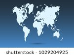 world map vector | Shutterstock .eps vector #1029204925