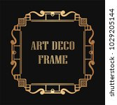 vintage retro golden frame in... | Shutterstock .eps vector #1029205144