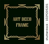 vintage retro golden frame in... | Shutterstock .eps vector #1029205201