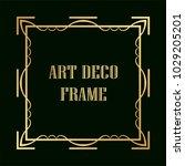 vintage retro golden frame in...   Shutterstock .eps vector #1029205201