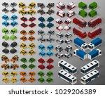 vector isometric illustration... | Shutterstock .eps vector #1029206389