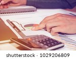 close up hand business man and... | Shutterstock . vector #1029206809
