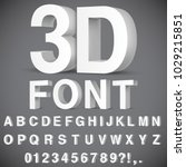 3d alphabet and numbers | Shutterstock .eps vector #1029215851