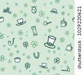 st. patrick's day seamless... | Shutterstock .eps vector #1029220621