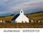 the church at mwnt dates back... | Shutterstock . vector #1029225715