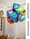 colorful balloons for little... | Shutterstock . vector #1029230014
