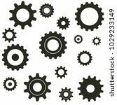 simple gear or cog wheel vector ... | Shutterstock .eps vector #1029233149