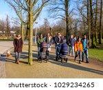 amsterdam  february 2018. group ... | Shutterstock . vector #1029234265